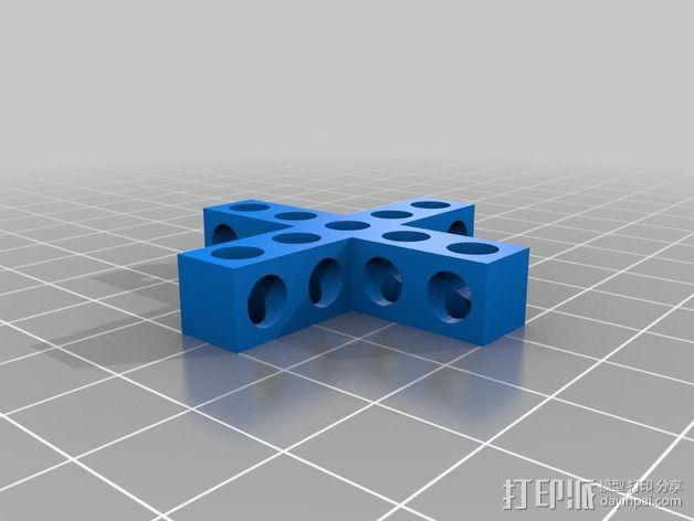 十字形Bitbeam支架 3D模型  图2