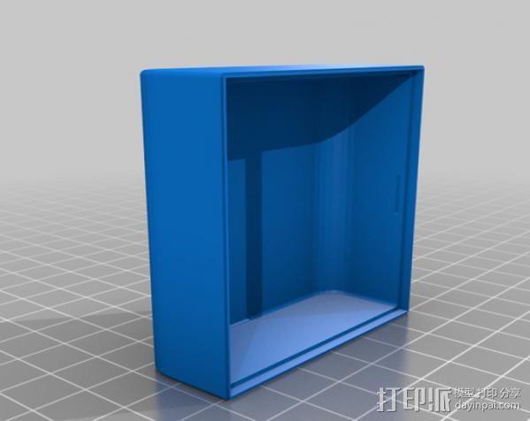 带槽口的小盒 3D模型  图2