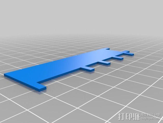 XBOX 360游戏主机 DVD卡槽固定装置 3D模型  图1