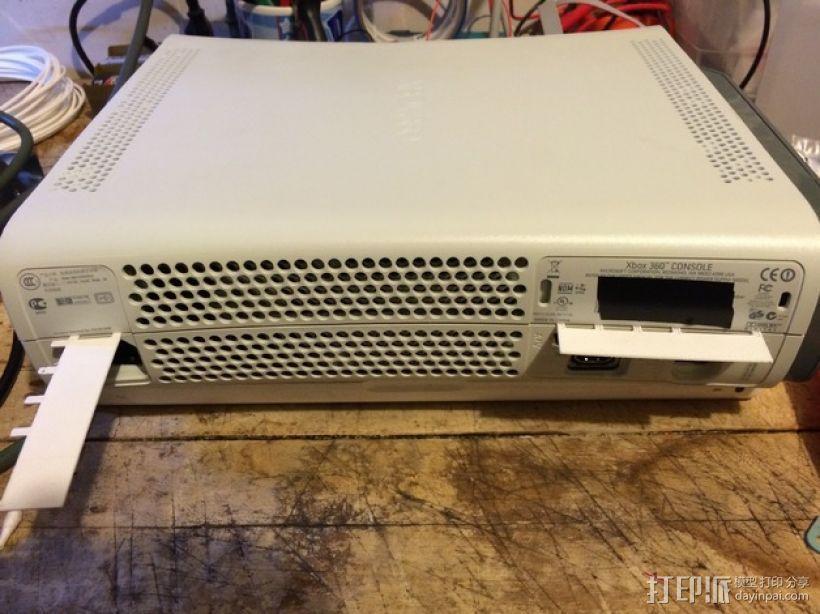 XBOX 360游戏主机 DVD卡槽固定装置 3D模型  图2