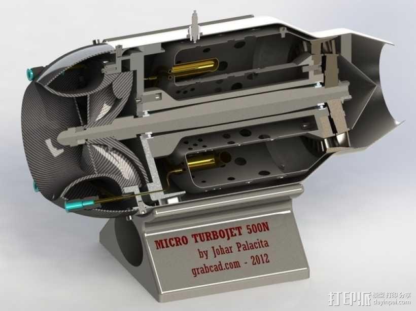 微型涡喷发动机 3D模型  图1