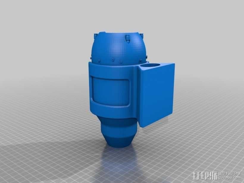 微型涡喷发动机 3D模型  图2