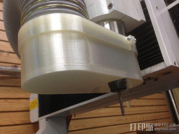 数控雕刻机 吸尘装置 3D模型  图7