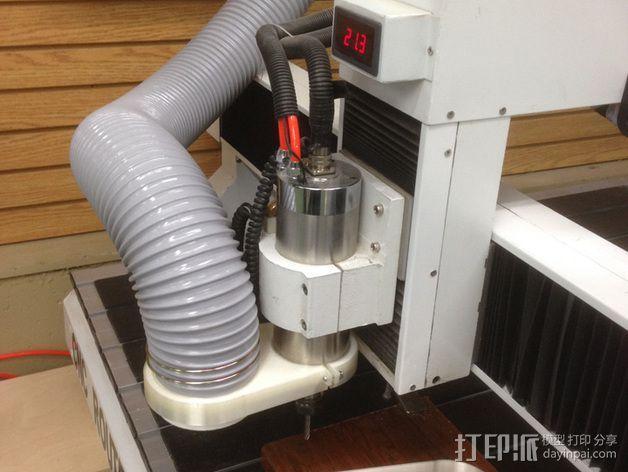 数控雕刻机 吸尘装置 3D模型  图8