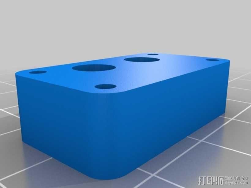 Shapeoko V2 Y轴限位开关固定架 3D模型  图2