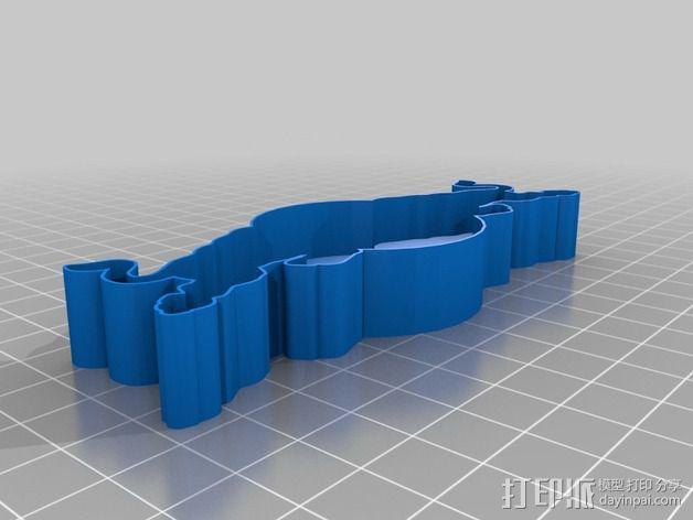 红牛 饼干制作模具 3D模型  图1
