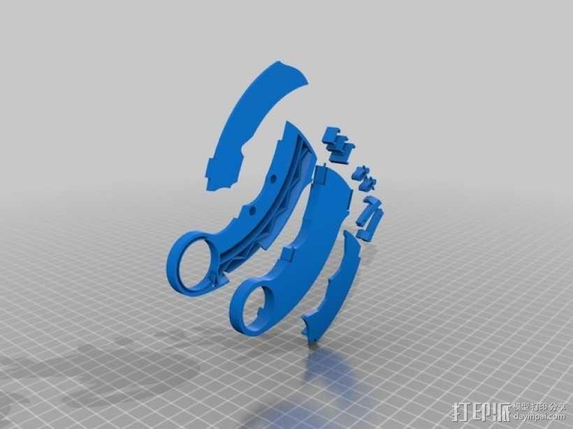 karambit爪刀 3D模型  图2