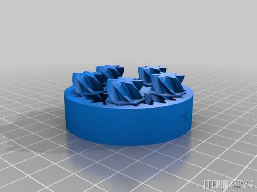 定制化齿轮差速器 3D模型  图1