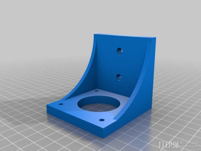 NEMA 23步进电机 支架 3D模型  图3