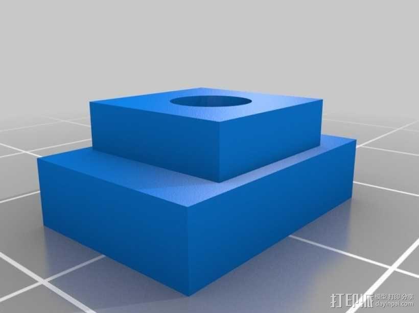 dremel钻床 防松螺帽 3D模型  图3