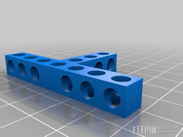 Bitbeam T字形支架 3D模型  图2
