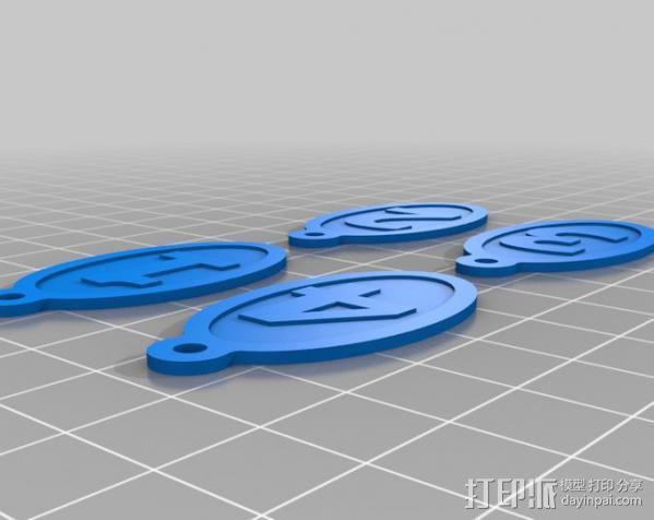 闪存盘 置放架 3D模型  图4