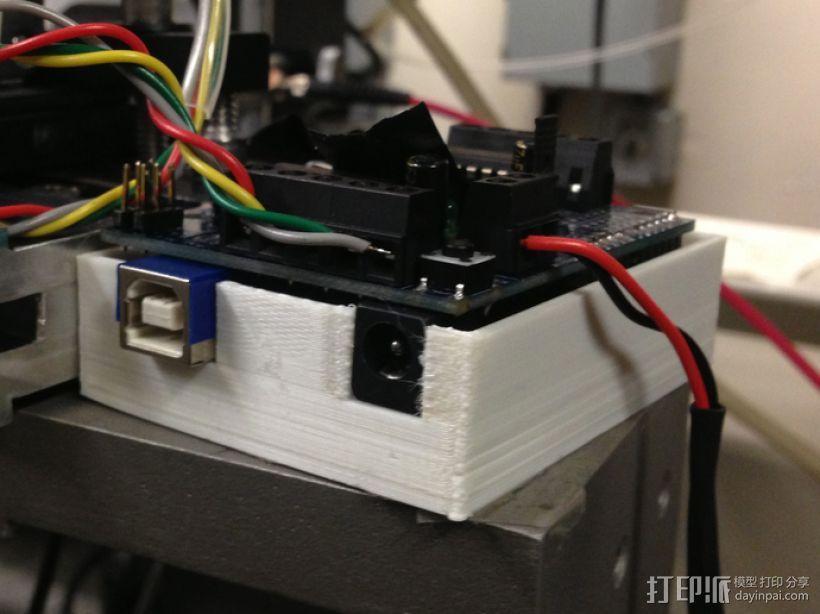 定制化Arduino电路板底座 3D模型  图1