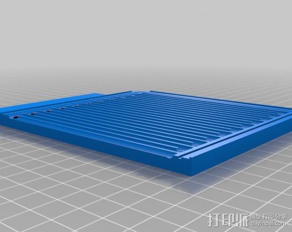 CNC设备 真空吸附平台  3D模型  图2