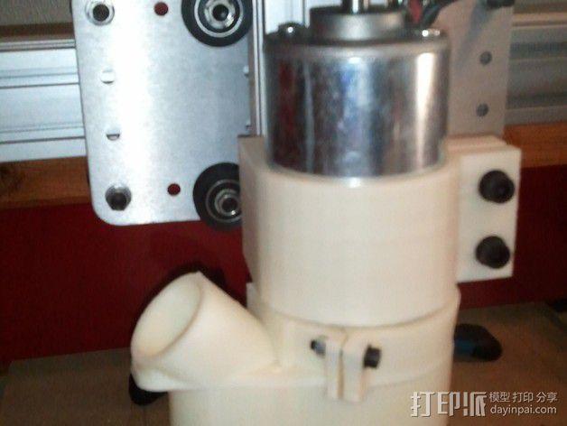 数控轴 吸尘装置 3D模型  图2