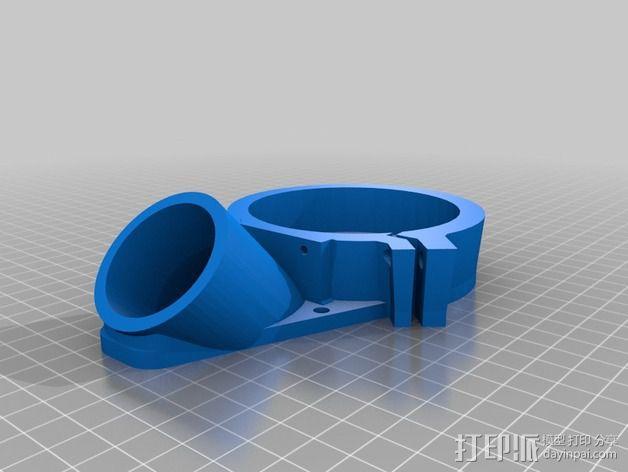 数控轴 吸尘装置 3D模型  图4