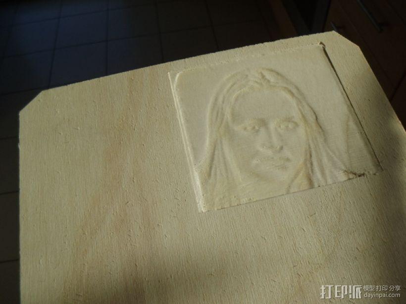 木质浮雕图片 3D模型  图1