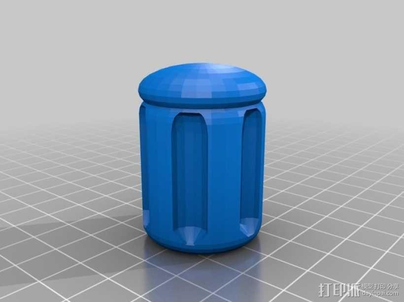 参数化螺丝刀把手 3D模型  图2