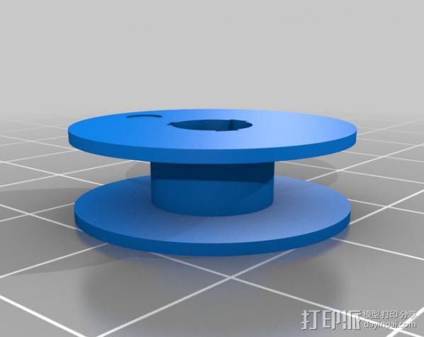 缝纫机 线轴 3D模型  图2