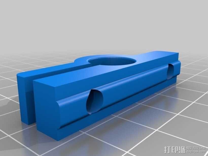 导杆 支架 3D模型  图2