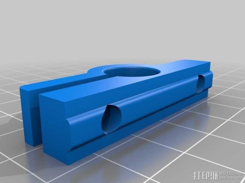 导杆 支架 3D模型  图3