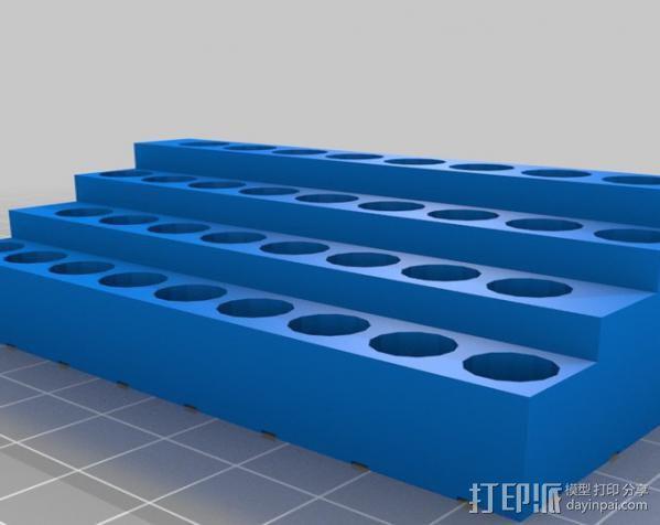 参数化 螺丝刀 钻头置放架 3D模型  图1