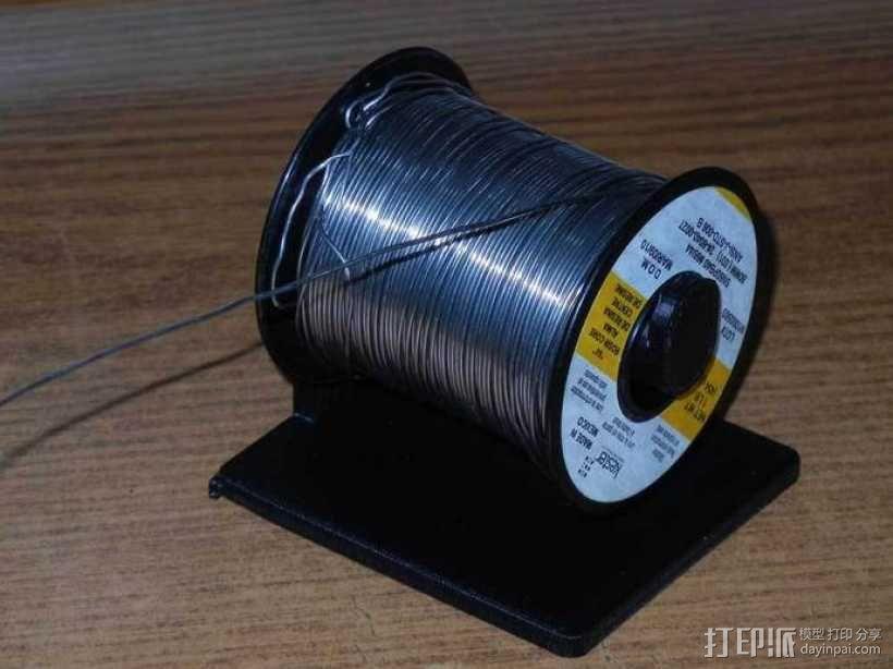 焊料卷轴架 3D模型  图1
