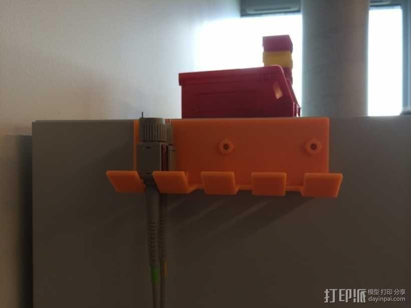壁挂式线缆架 3D模型  图1