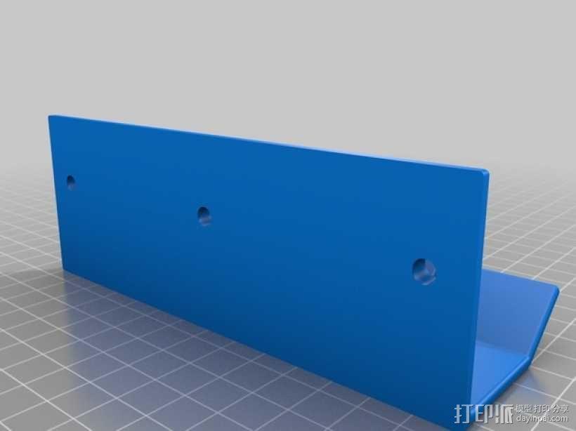 壁挂式线缆架 3D模型  图2