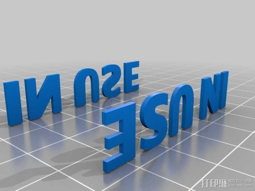 """公厕""""使用中""""标志 3D模型  图4"""