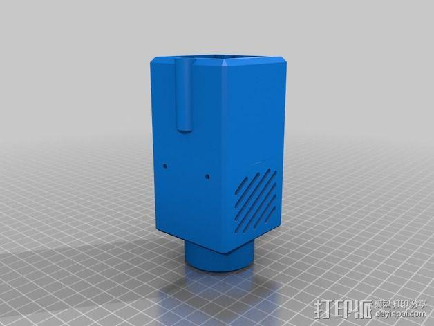 激光器外壳 3D模型  图2