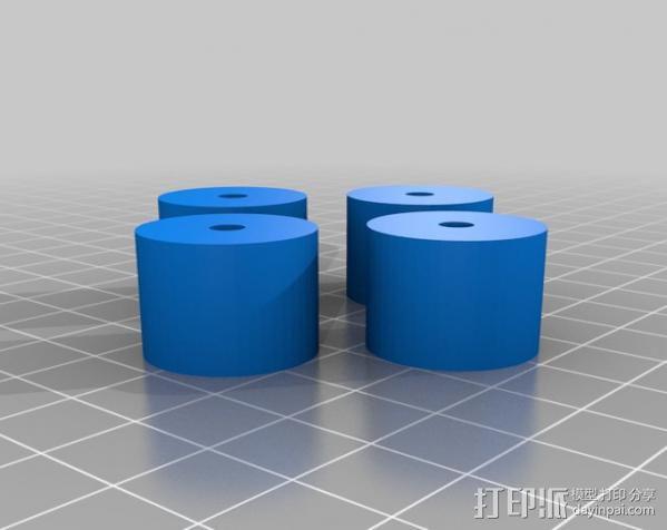 参数化蠕动泵 3D模型  图2