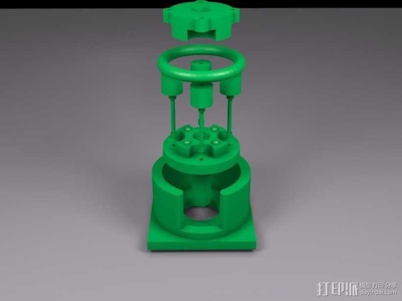 参数化蠕动泵 3D模型  图1