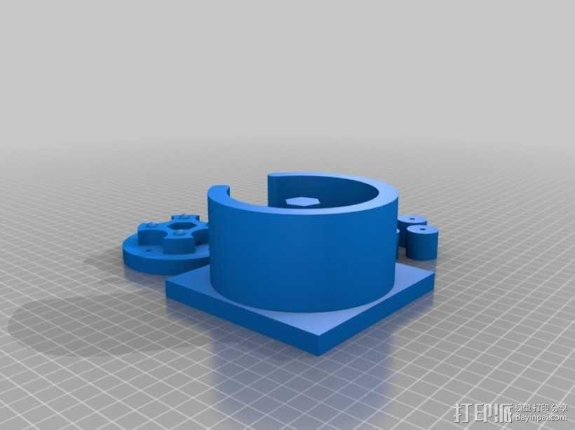 参数化蠕动泵 3D模型  图3