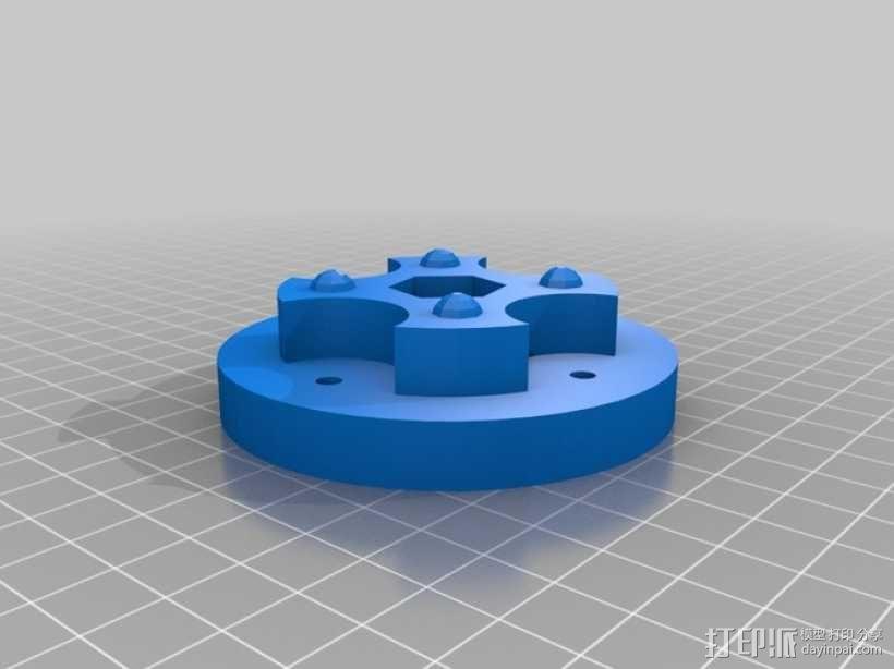 参数化蠕动泵 3D模型  图6