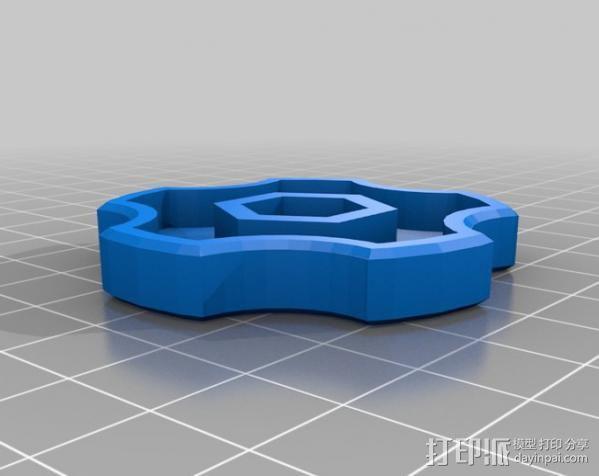 定制化螺母旋钮 3D模型  图1