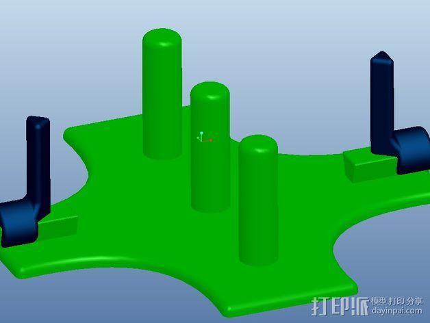 Bandit 250木片切削机 刀片架 3D模型  图1