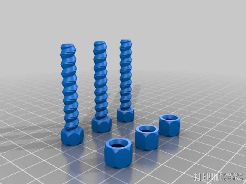 螺母螺丝 3D模型  图1