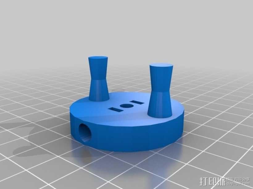 Nema 17步进电机曲柄 3D模型  图2