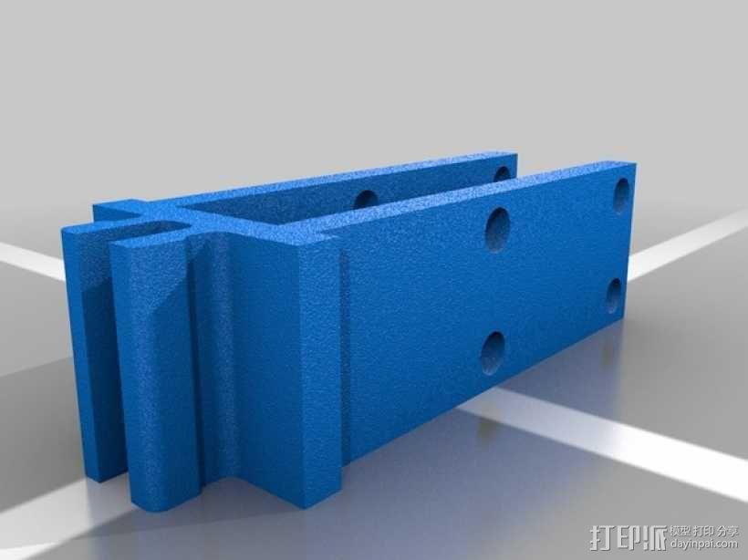 8020限位开关保护架 3D模型  图2
