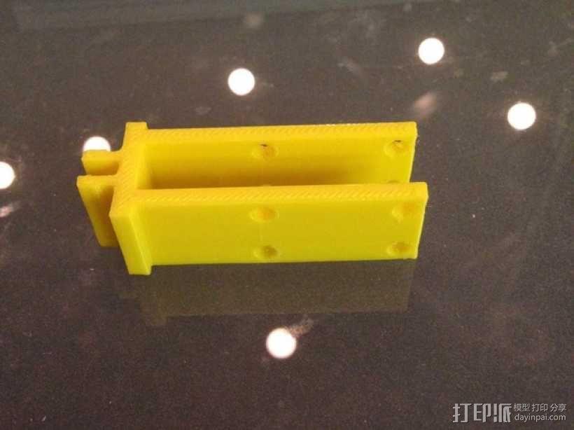 8020限位开关保护架 3D模型  图3