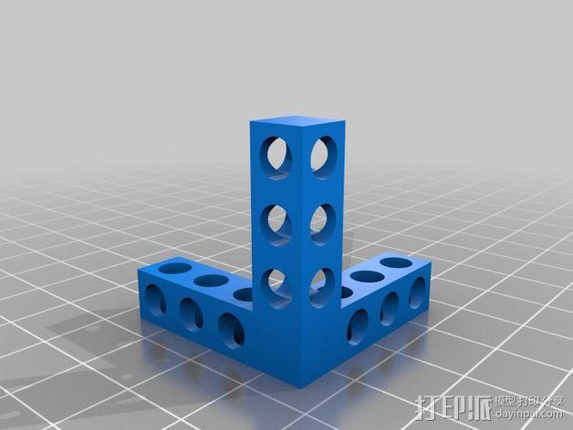 双层Bitbeam支架 3D模型  图2