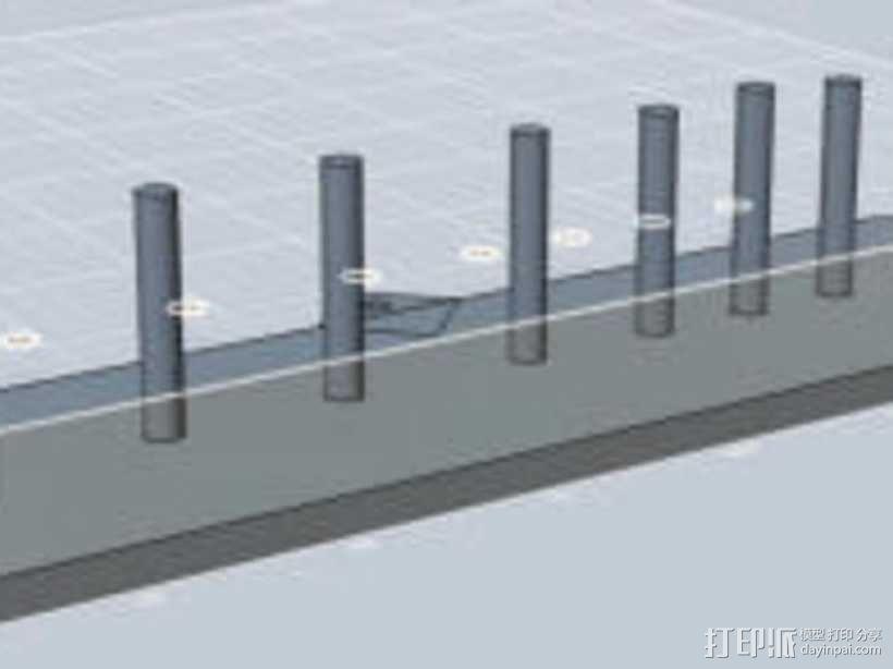 扳手固定架 3D模型  图2
