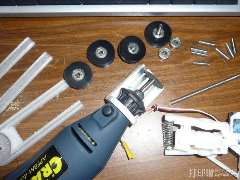 Demel电动切割工具 固定架 3D模型  图1