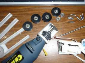 Demel电动切割工具 固定架 3D模型