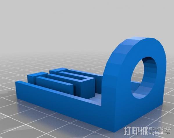 Demel电动切割工具 固定架 3D模型  图2