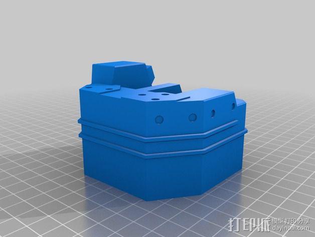 坦克笔架 3D模型  图1