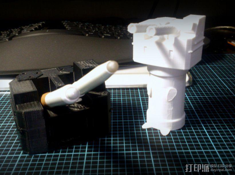 坦克笔架 3D模型  图3