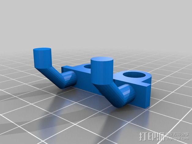 电动螺丝刀固定架 3D模型  图2
