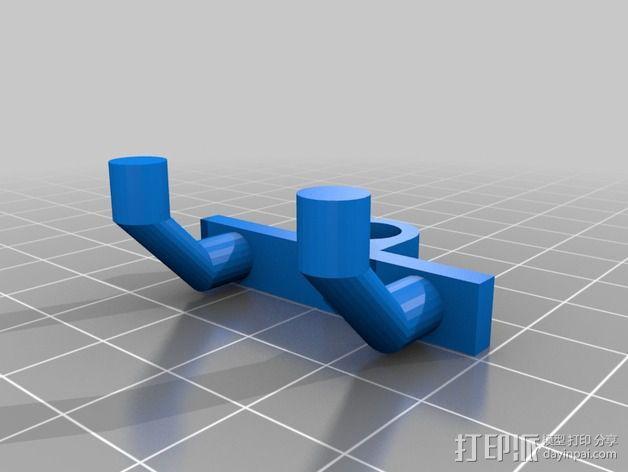 电动螺丝刀固定架 3D模型  图3
